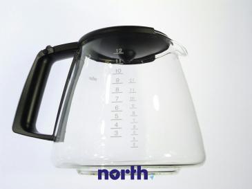 Dzbanek szklany 12 filiżanek do ekspresu do kawy (z pokrywką) Braun 67050721