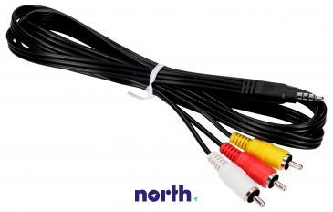 Kabel 1.5m CINCH - JACK (wtyk x3/3.5mm 4 pin wtyk) K2KC4CB00022