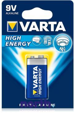 6F22 | 6LR61 | Bateria alkaliczna 9V Varta (10szt.)