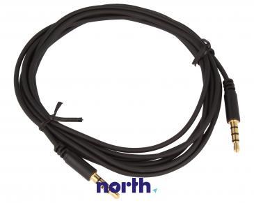 Kabel 2m JACK 3.5mm 4 pin - JACK (wtyk/3.5mm 4 pin wtyk) standard