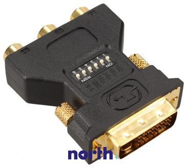 Adapter CINCH RGB - DVI (gniazdo x3/ wtyk)