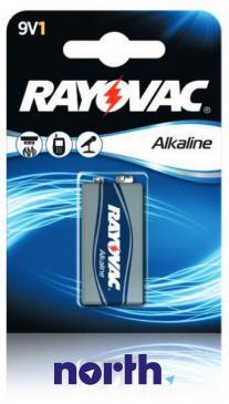 6F22 | 6LR61 | Bateria 9V 565mAh Rayovac (10szt.)