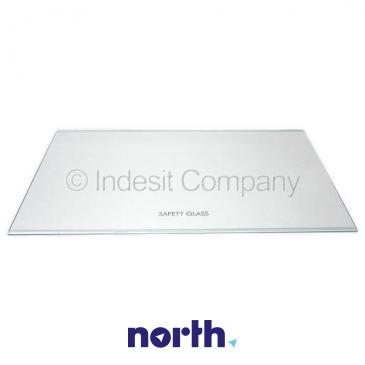 Szyba | Półka szklana chłodziarki (bez ramek) do lodówki Indesit 482000029700
