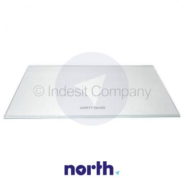 Szyba | Półka szklana chłodziarki (bez ramek) do lodówki Indesit C00143033