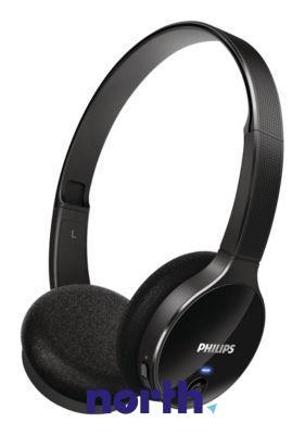 SHB400000 słuchawki nauszne bluetooth, czarne, idealne dla smartfonów PHILIPS,0