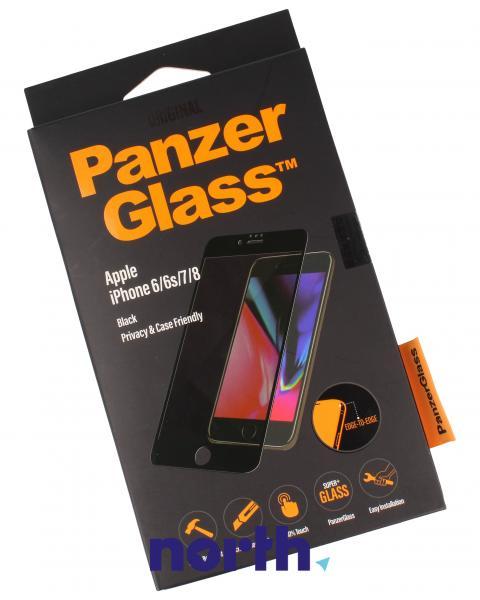 Szkło hartowane wyświetlacza do smartfona Apple iPhone 6/6s/7 Privacy Filter PanzerGlass (czarne) P2618,0