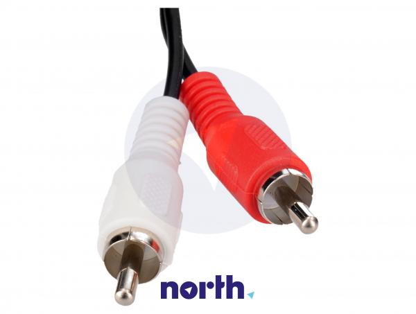 Kabel 1.5m CINCH (wtyk x2) - JACK 3.5mm stereo (wtyk) standard,2