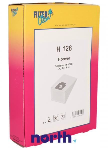 Worek H128 2 filtry do odkurzacza 5szt. - oryginał: 000759K,0