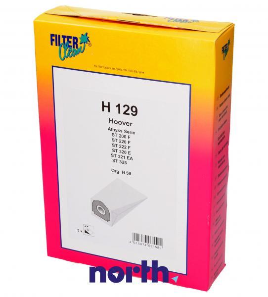 Worek H129 do odkurzacza 5szt. - oryginał: 000838K,0