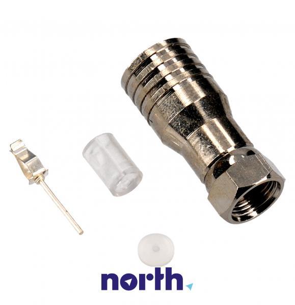 Wtyk F 10mm antenowy,0