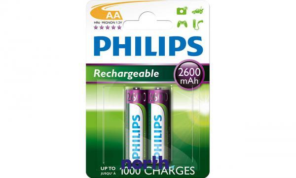 R6 Akumulator AA 1.2V 2600mAh Philips (2szt.),0