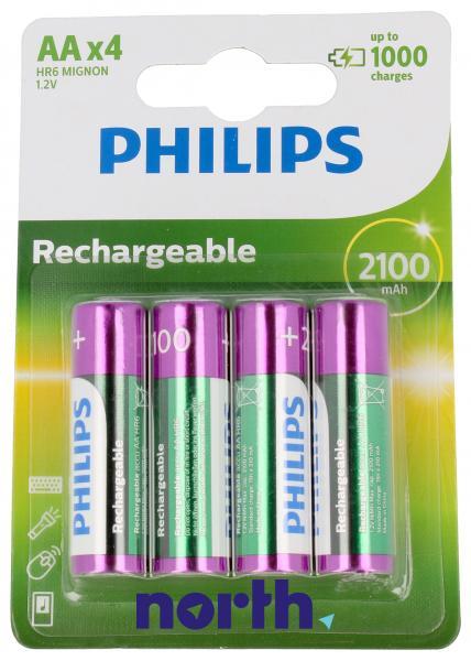 R6 Akumulator AA 1.2V 2100mAh Philips (4szt.),0