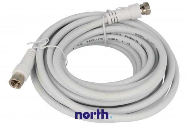 Kabel antenowy Złącze F 5m (wtyk/wtyk) standard,0