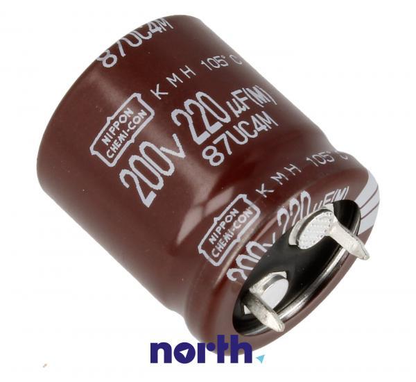 220uF | 200V Kondensator elektrolityczny 105°C 30mm/22mm,0