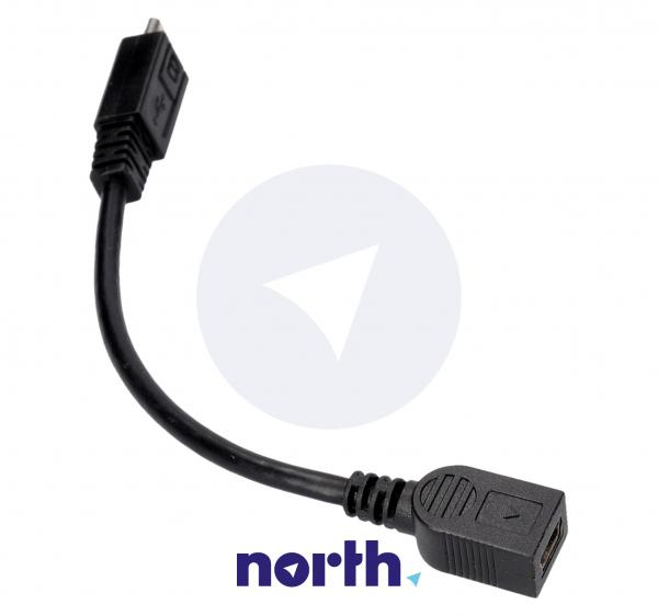 Adapter USB B mini - USB (gniazdo/ B micro wtyk),0