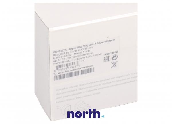 Ładowarka | Zasilacz 16.5V/3.65A/60W do laptopa Apple MD565ZA,2