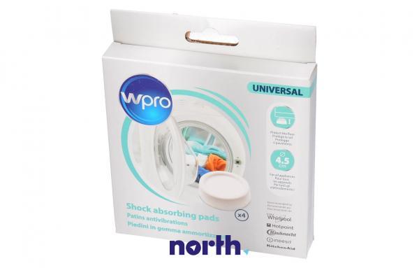 Stopka | Podkładka antywibracyjna SKA002 pod nóżkę do pralki (4szt.) Whirlpool 484000000364,0