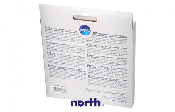 Stopka | Podkładka antywibracyjna SKA002 pod nóżkę do pralki (4szt.) Whirlpool 484000000364,1