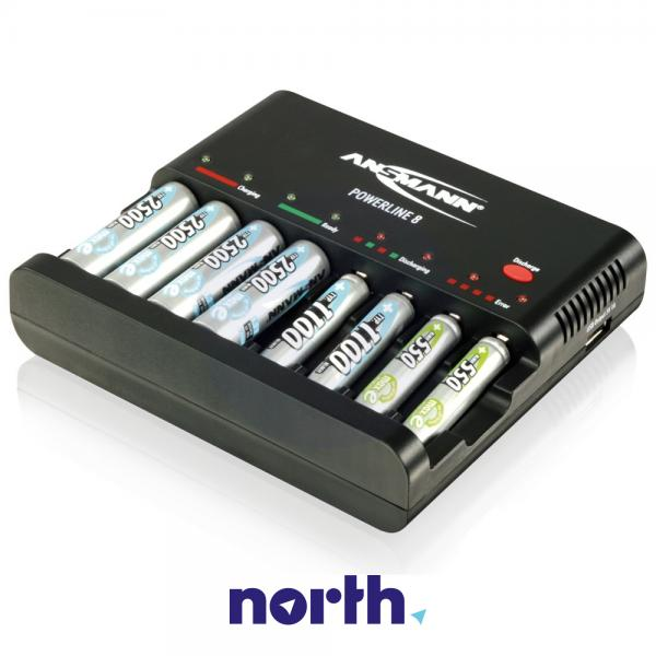 Ładowarka akumulatorów POWERLINE8 R3/R6 Ansmann,1