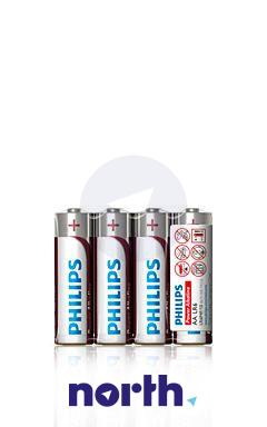 R6 | LR6 | Bateria AA (Power Alkaline) 1.5V Philips (4szt.),0