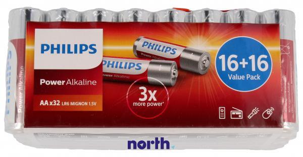 R6 | LR6 | Bateria AA (Power Alkaline) 1.5V Philips (32szt.),0