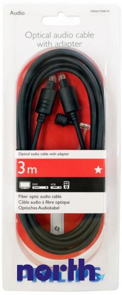 Kabel optyczny 3m (wtyk/wtyk),1