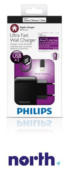 Ładowarka sieciowa USB x2 + kabel Apple Lightning DLP2207V/12 do smartfona,3
