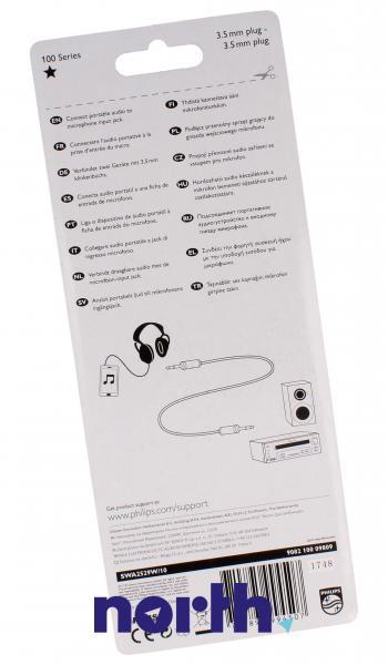 Kabel Jack 3,5mm stereo 1.5m (wtyk/ wtyk) SWA2529W10,1