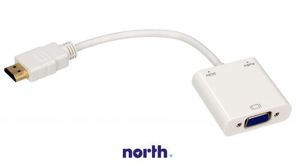 Konwerter HDMI - VGA (wtyk//JACK 3.5mm stereo gniazdo/gniazdo),0