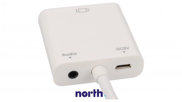 Konwerter HDMI - VGA (wtyk//JACK 3.5mm stereo gniazdo/gniazdo),2