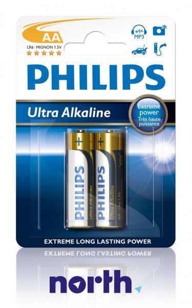 R6 | LR6 | Bateria AA (Ultra Alkaline) 1.5V Philips (2szt.),0