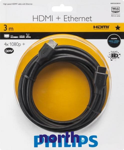 Kabel HDMI 3m Philips SWV2433W10 (wtyk/wtyk),0