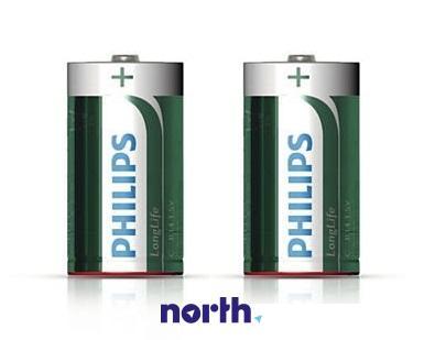 R14 | LR14 | MN1400 Bateria C cynkowo-węglowa 1.5V Philips (2szt.),0