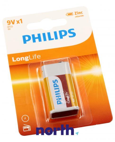 6F22 | 6LR61 | Bateria cynkowo-węglowa 9V Philips (1szt.),0