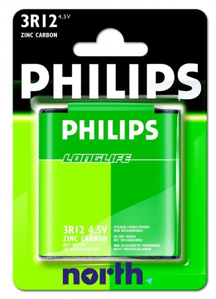 3R12 | 3LR12 | Bateria cynkowo-węglowa 4.5V Philips (1szt.),0