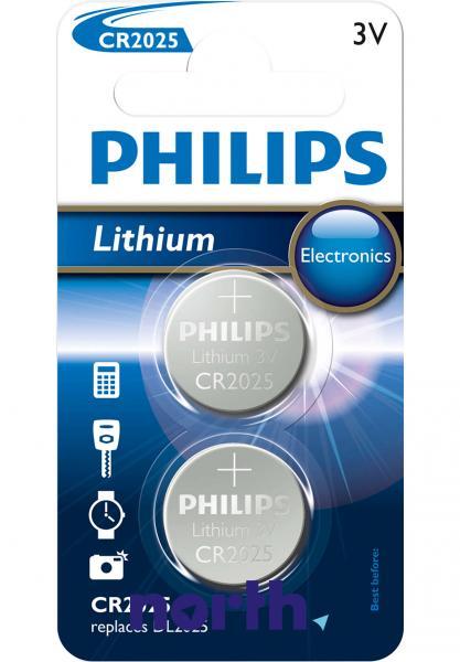 CR2025 | DL2025 | Bateria litowa 3V 150mAh Philips (2szt.),0