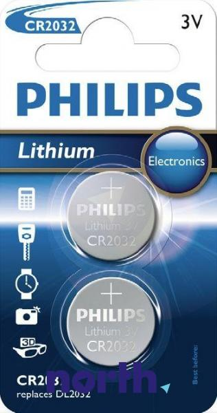 CR2032 | DL2032 | Bateria litowa 3V 210mAh Philips (2szt.),0