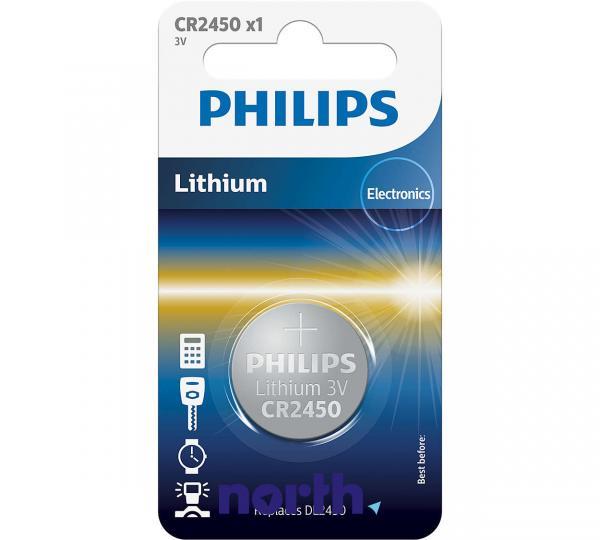 CR2450   DL2450   Bateria 3V 600mAh Philips (1szt.),0
