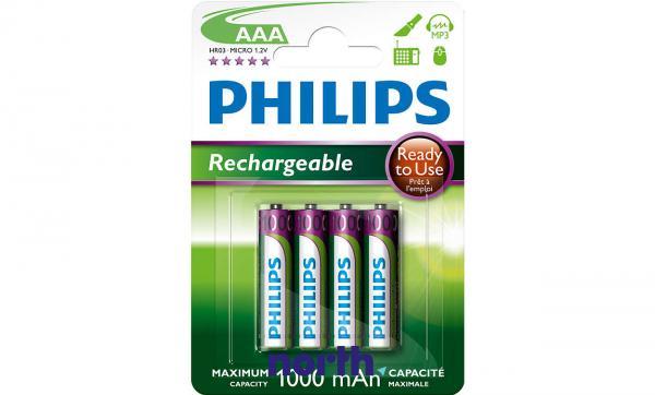 R3 Akumulator AAA 1.2V 1000mAh Philips (4szt.),0