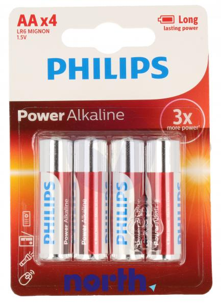 R6   LR6   Bateria AA (Power Alkaline) 1.5V Philips (4szt.),0