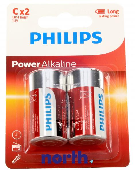 R14 | LR14 | MN1400 Bateria C alkaliczna 1.5V Philips (2szt.),1