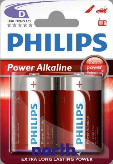 R20 | LR20 | MN1300 Bateria D alkaliczna 1.5V Philips (2szt.),0