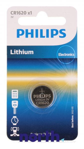 CR1620   DL1620   Bateria litowa 3V 70mAh Philips (1szt.),0