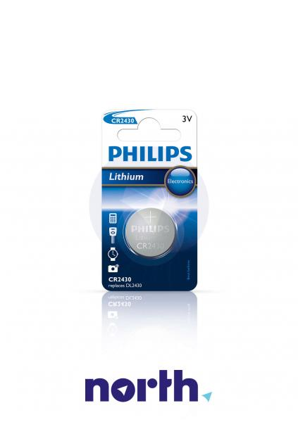 CR2430 | DL2430 | Bateria 3V 270mAh Philips (1szt.),1