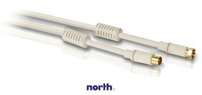 Kabel antenowy 3m COAX - Złącze F (wtyk/ wtyk) SWV4153S10,0