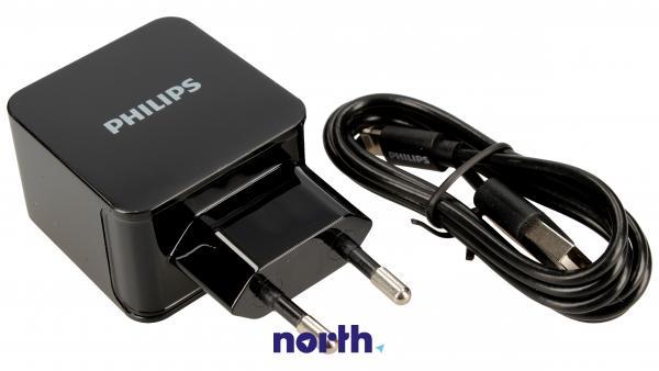 Ładowarka sieciowa USB x2 podwójna + kabel Apple Lightning DLP2307V/12 do smartfona,0