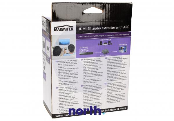 Konwerter TOSLINK/CINCH/COAX  - HDMI (gniazdo/gniazdo x3/ gniazdo) Marmitek 08276,4