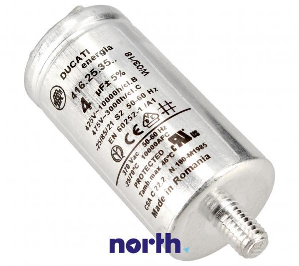 Kondensator rozruchowy 4,0UF475VFASTON6,3MM,0