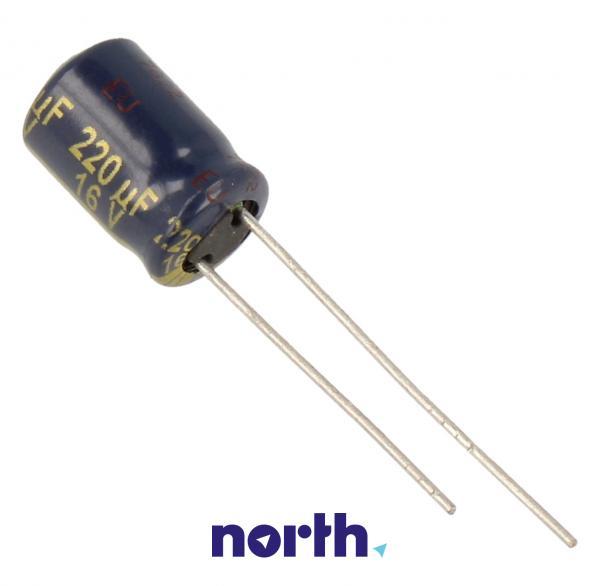 220uF   16V Kondensator elektrolityczny 105C EEUFC1C221 11.5mm/8mm,0
