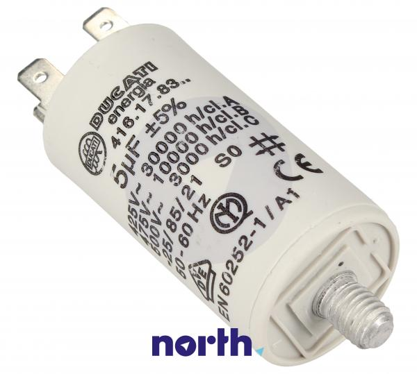 Kondensator rozruchowy 5,0UF450VFASTON6,3MM,0